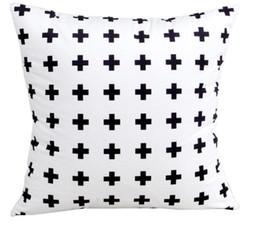 $enCountryForm.capitalKeyWord UK - North European Style Geometry Black White Printed Pillow Case Soft Cushion Abstract Brief Cushion Cover Sofa Throw Pillow 2 Side Print Top