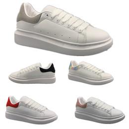 platform closed wedges 2019 - Fashion Sneaker Wedges Flats Platform Dress Loafers Canvas Trainers Designer Luxury White Black Women Men Girls Leather
