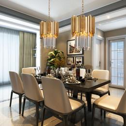 $enCountryForm.capitalKeyWord Australia - Gold Chandelier Lighting Single Light Dining Room LED Crystal Lamp Modern Kitchen Island Pendant Chain Cristal Lustre