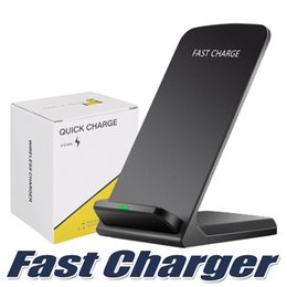 Chinese  2 Coils Wireless Charger For iPhone X 8 8 Plus Qi Wireless Fast Charging Stand Pad For Samsung Note 8 S8 S7 All Qi-enabled Smartphones manufacturers