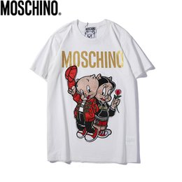 $enCountryForm.capitalKeyWord Australia - 2019 new hot European Italian brand embroidery and hot stamping letters blcg cartoon Couple pig womens and mens designer t shirts couple tsh