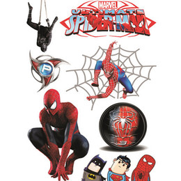 PeoPle window stickers online shopping - Cartoon Stickers Spider Man Sticker Cartoon Car Window Crack Decals Personalized Room Bar Decorative Stickers Styles GGA1908