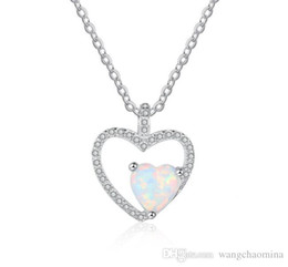 $enCountryForm.capitalKeyWord Australia - Top fashion jewelry 925 sterling silver opal necklace 3A cubic zirconia pendant with cross chain free shippping cost