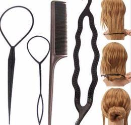 $enCountryForm.capitalKeyWord Australia - 2019 Women Plastic Hair Comb Set Twist Styling Clip Stick Bun Maker Braid Tool Accessories
