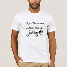 Sale Dry Shirts Tees Australia - Streetwear Johnny Hallyday Rock Star Tees Shirt for Sale Men Cotton Short Sleeve T-Shirt Crew Neck Men T Shirt 100% Cotton Gray