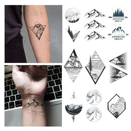 tattoo for girls hand UK - Mountain Tattoo Sticker Waterproof Temporary Fake Tattoo Stickers Mountain Design Body Art Make Up Tools for Girl Women