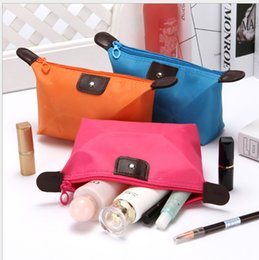 cute waterproof bag Australia - Korean version of cute dumplings cosmetic bag candy color folding dumplings package Ingot waterproof storage wash bag
