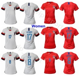 994461bfd Women 2019 World Cup Soccer 17 Tobin Heath Jersey 19 Crystal Dunn 2 Mallory  Pugh 18 Ashlyn Harris Girl Football Shirt Kits Uniform