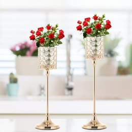 hurricane glasses wholesale Australia - VINCIGANT Gold Crystal Candle Tealight Holder Candlesticks Ideal for Wedding Decoration,Home Decor ,Table Centerpieces,Mother's Day Gifts