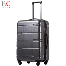 spinner building NZ - Luggage Expandable Aluminum Framed Xiaomi Suitcase Suitcase PC+ABS Spinner Built-in TSA Lock 20in 24in 28in Carry on