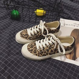 42d9005d711f 2019 new leopard canvas shoes female spring Korean version Harajuku ulzzang  street shot flat retro student wild shoes-1