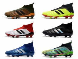 Mens grounding shoes online shopping - 2018 Predator Soccer Cleats Firm Ground Cleats Mens Football Boots World Cup Paul Pogba Indoor Outdoor Football Shoes Zapatos