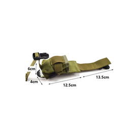 green flashlight for hunting NZ - Flashlight Pouch for Miland Walkie-Talkie Two Way Radio Holder MOLLE Hunting Camp Climb Tactical Hike Outdoor TW-P001 #794930