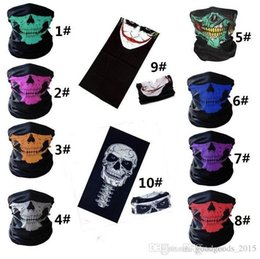 Bicycle Black Ghost Australia - Halloween Scary Mask Festival Skull Masks Skeleton Outdoor Motorcycle Bicycle Multi Masks Scarf Half Face Mask Cap Neck Ghost a977