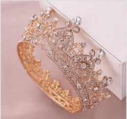 Wholesale Rhinestone full circle heart shaped crown bridal tiara bridal crown hair accessory