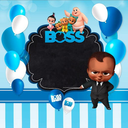 Discount cartoon baby background - boss baby happy birthday party cartoon photo background photography backdrops quality vinyl