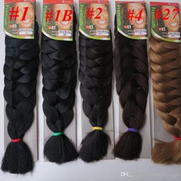 ultra braiding hair NZ - Xpression jumbo braids Hair 82inch 165g single color Ultra Braid Premium Kanekalon Synthetic braiding hair extensions 13colors Optional