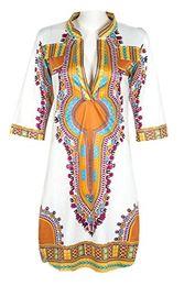 Discount dresses horse prints - Knight Horse Women Bohemian V Neck Vintage Printed Ethnic Style Summer Shift Dress