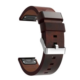 replacement leather strap NZ - Luxury Leather Strap Replacement Watch Band With Tools For Garmin Fenix 5 GPS Watch July13#2 Dropship