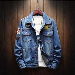 $enCountryForm.capitalKeyWord Australia - Denim Jacket Men's New Fashion Youth Cowboy Cotton Slim Fit Single Breasted Jackets Casual Autumn male Slim Coat Plus Size 5XL