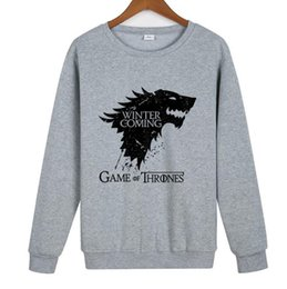 game television Canada - 2019 New Power Game Ice and Fire Song Stark Family Film and Television Round-necked Guard Clothes Autumn and Winter Outerwear Factory Dir
