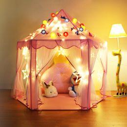 $enCountryForm.capitalKeyWord NZ - Kids Portable Play Tent Outdoor Anti-mosquito Curtains Garden Toys Tent Pop Up Princess Girl Outdoor Playhouse Castle House