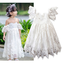 $enCountryForm.capitalKeyWord NZ - Baby Clothes Princess Wedding Dresses Bridesmaid Party Dress Kids Lace Dress Tulle Formal Dance Dress INS Designer Clothing Z11