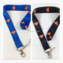 $enCountryForm.capitalKeyWord Canada - Hot!20pcs Mix Classic Design Black blue Hero Superman Lanyard Key Chain Ring Keychain Id Holder New