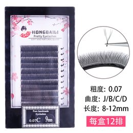 Lashes Individual False Eyelashes Australia - wholesale Y-shaped individual Lashes 1440pcs 8-12mm Mixed Length False eyelashes Hand made Soft natural Free shipping