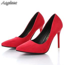 96bd03b02 Designer Dress Shoes Spring autumn fine super high-heeled suede black  professional wedding female mujer f104