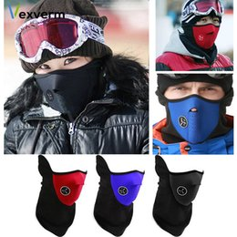 $enCountryForm.capitalKeyWord Australia - Warm Mask Winter Warm Fleece Balaclavas Ski Cycling Half Face Mask Cover Outdoor Sport Windproof Neck Guard Scarf Headwear
