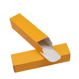 $enCountryForm.capitalKeyWord NZ - 2*2*8.5cm Orange Colored DIY Lipstick Package Kraft Paper Boxes Wedding Small Gift Packing Box Foldable Paperboard Boxes