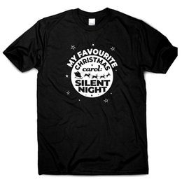 Men S Top Christmas Gifts Australia - My favourite Christmas carol Silent Night T shirt men womens funny gift S to 3XLFunny free shipping Unisex Casual Tshirt top