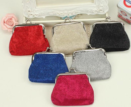Wholesale Coins For Sale Australia - New Wholesale Coin Purses wallet coin purse clasp for women metallic fabric hot sale mix colors