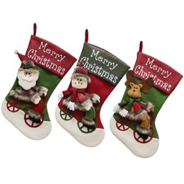 $enCountryForm.capitalKeyWord NZ - Christmas Stockings Gift Bag Santa Claus Snowman Moose Merry Christmas Sack Socks New Year Decoration Accessories