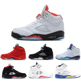 Discount cool mens high tops - Designer 5 5s Mens High Basketball Shoes Top Quality Designer Sneakers Fashion Cool Comfortable Sport Trainers Size 7-13