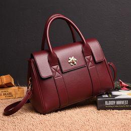 $enCountryForm.capitalKeyWord Australia - 2019 Brand Genuine Leather Business Luxury Handbags Women Bags Designer Top-handle Ladies Handbag Fashion Briefcase Bag