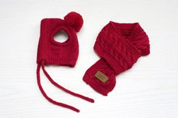 $enCountryForm.capitalKeyWord NZ - Fantastic Stylish Red Black Gray Scarf Hat Set For Pet Dog Winter Clothes Keep Your Pet Warm Comfortable Accessories Suit
