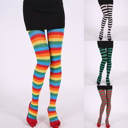 9a6dc7880aa Wholesale Fancy Socks Australia - Women Stripe Print Long Tube Knee Socks  Fancy Dress Party Funny