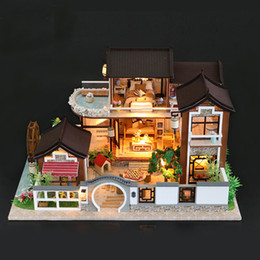 $enCountryForm.capitalKeyWord Australia - Diy Dollhouse Miniature Doll House With Furniture Vintage Building Kits 3d House For Dolls Toys For Children Birthday Gift #e Y19070503
