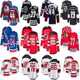 2019 Nova Jersey Devils 76 P. K. Subban 86 Jack Hughes Camisolas de Hóquei Nova Iorque Rangers 24 Kaapo Kakko Camisola de Chicago Blackhawks 77 Kirby Dach venda por atacado