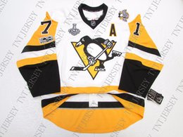 quick cup Australia - Cheap custom MALKIN PITTSBURGH PENGUINS AWAY 2017 STANLEY CUP FINAL JERSEY stitch add any number any name Mens Hockey Jersey XS-5XL