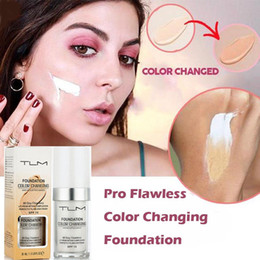 $enCountryForm.capitalKeyWord NZ - DHL Free Shipping Flawless Color Changing Foundation Makeup Base Nude Face Liquid Cover Concealer Long Lasting Pre Makeup Sun Block Pores
