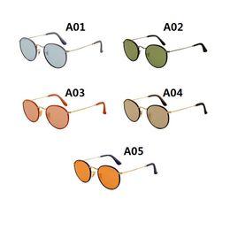 Mens Wholesale Sun Glasses Australia - High Quality Round Metal Sunglasses For Mens Women Sun glasses Gold Frame Black Glass Lens 50MM With Box Case 3475