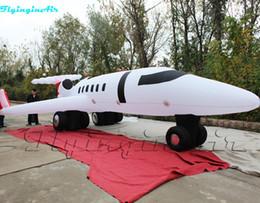 Venta al por mayor de Avión artificial al aire libre plano inflable espectacular del aeroplano inflado modelo gigante del 10m