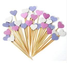 $enCountryForm.capitalKeyWord UK - New Arrive Handmade Lovely Heart Cupcake Toppers,Girl baby shower decorations,Party Supplies Birthday Wedding Party Decoration