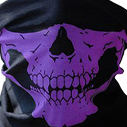 Bicycle Black Ghost Australia - Halloween Scary Mask Festival Skull Masks Skeleton Outdoor Motorcycle Bicycle Multi Masks Scarf Half Face Mask Cap Neck Ghost