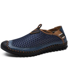 $enCountryForm.capitalKeyWord Australia - Fotwear Men's mesh outdoor shoes Breathable Shoes Men's summer Loafers Chaussure Homme De Hombre Water Zapatos Sandalia
