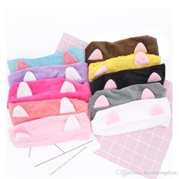 ladies hair fashion Australia - Lady Makeup Tool Headband Simple Fashion Hairband Multi Color Lovely Cat Ears Hair Band 2018121401