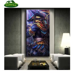 Painting Faces Australia - Pictures Made By Diamond Egyptian God Anubis Mosaic Diamond Diamond Painting Embroidery Bull Head Horse Face YHAll Sticker